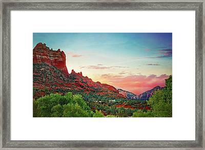 Sunrise In Sedona  Framed Print