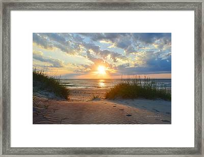 Sunrise In South Nags Head Framed Print