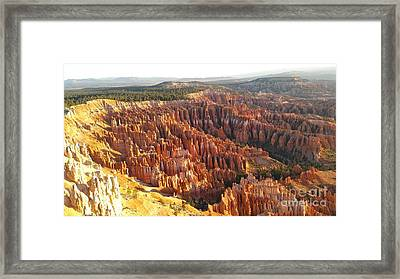 Sunrise In The Canyon Framed Print