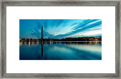 Sunrise In The Capital Framed Print by David Hahn