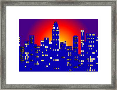 Sunrise In The City Framed Print
