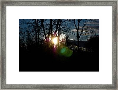 Sunrise In The Fall Framed Print by RonSher Brooks