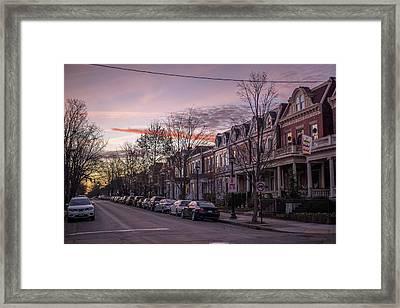 Sunrise In The Fan Framed Print