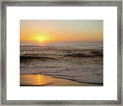 Sunrise In The Foggy Morning Framed Print