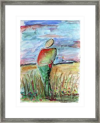Sunrise In The Grasses Framed Print