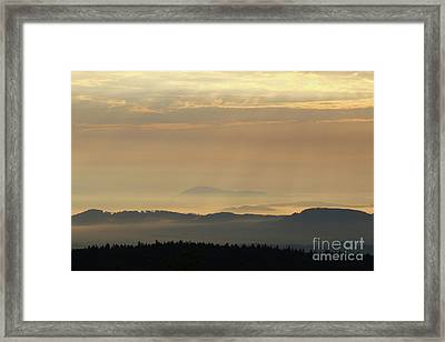 Sunrise In The Mountains - Hills In Morning Mist Framed Print by Michal Boubin