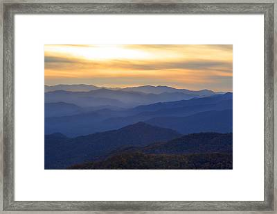 Sunrise In The Smokies Framed Print