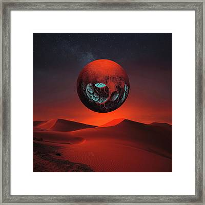 Sunrise In The Third System Framed Print by Michal Karcz