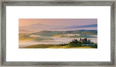 Sunrise In The Tuscany Framed Print by Henk Meijer Photography