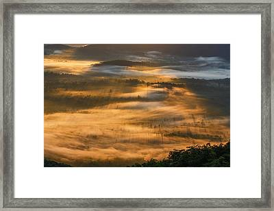Sunrise In The Valley Framed Print