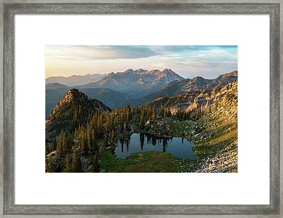 Sunrise In The Wasatch Framed Print