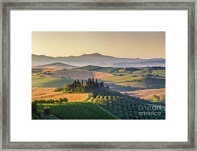 Sunrise In Tuscany Framed Print by JR Photography
