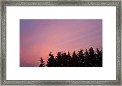 Sunrise In Washington Framed Print by Laurie Kidd