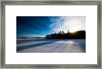 Sunrise In Winter Framed Print