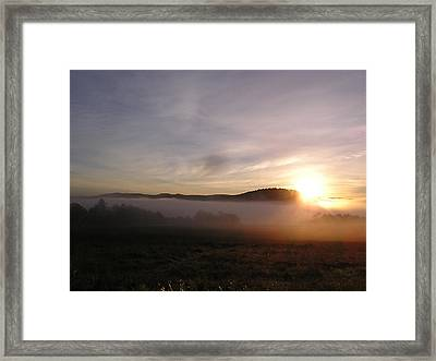 Sunrise Framed Print by Jashobeam Forest