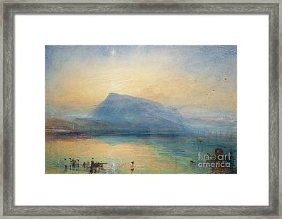 Sunrise Framed Print by Joseph Mallord William Turner