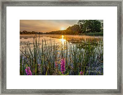 Sunrise Kent Lake Framed Print