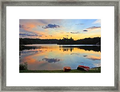 Sunrise Killarney Provincial Park Framed Print by Charline Xia