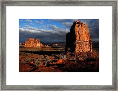 Sunrise La Sal Mountains Framed Print