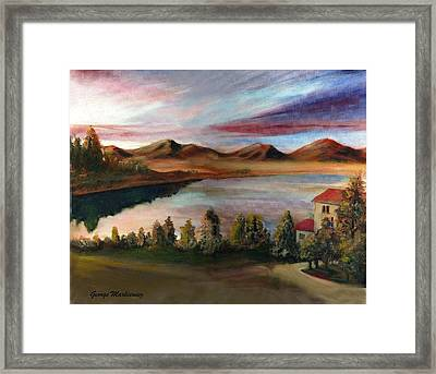 Sunrise Lake Framed Print by George Markiewicz