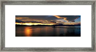 Sunrise Lake Tahoe Ca Framed Print by Panoramic Images