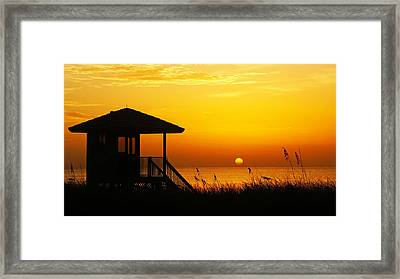 Sunrise Lifeguard Station Framed Print