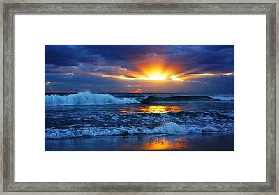 Sunrise Light Wave  Framed Print