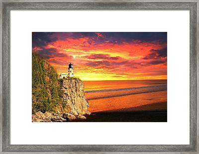 Sunrise Lighthouse Framed Print by Marty Koch