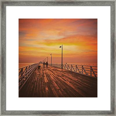 Sunrise Lovers Framed Print