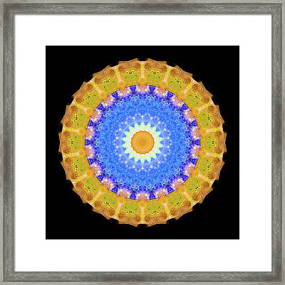 Sunrise Mandala Art - Sharon Cummings Framed Print by Sharon Cummings