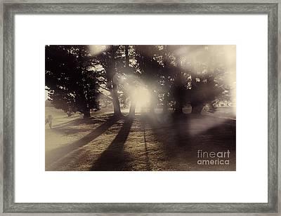 Sunrise Meadow. Artistic Vintage Landscape Framed Print by Jorgo Photography - Wall Art Gallery