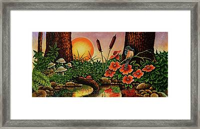 Framed Print featuring the painting Sunrise by Michael Frank