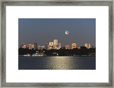 Moonrise Over Miami Framed Print