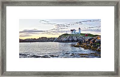 Sunrise Nubble Lighthouse - York - Maine Framed Print by Steven Ralser