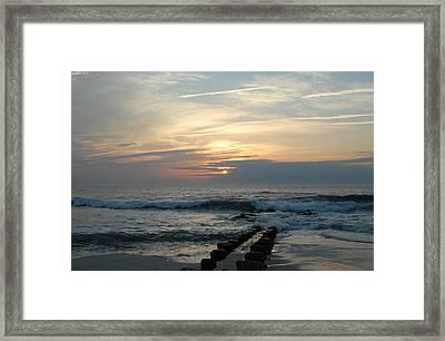 Sunrise Ocean 50 Framed Print by Joyce StJames