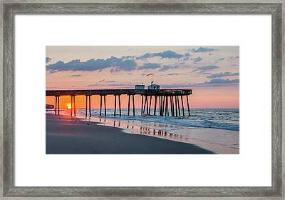 Sunrise Ocean City Fishing Pier Framed Print