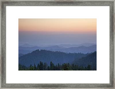 Sunrise Of Sequoia Framed Print by Rick Pham