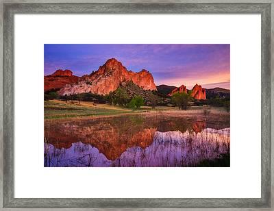 Sunrise Of The Gods Framed Print by Darren  White