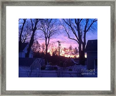 Sunrise On A Cold Fall Morning Framed Print