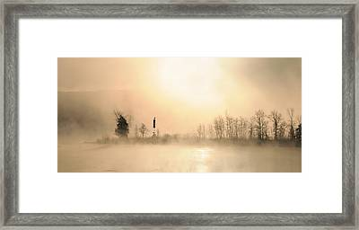 Sunrise On A Foggy Morning Framed Print by Louise Fahy