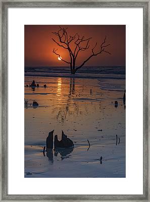 Sunrise On Boneyard Beach Framed Print