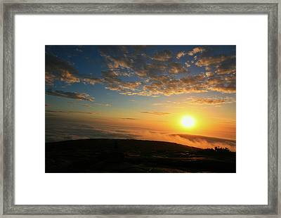 Sunrise On Cadillac Mountain Framed Print