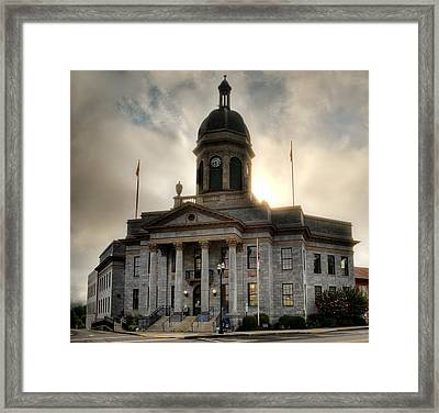 Sunrise On Cherokee County Courthouse Framed Print