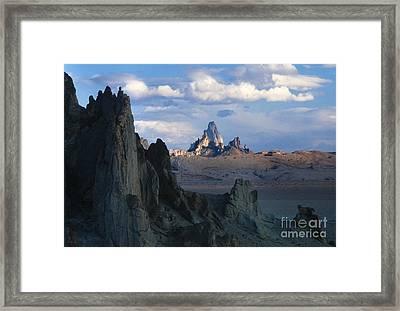 Sunrise On Church Rock  Framed Print by Sandra Bronstein