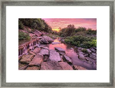 Framed Print featuring the photograph Sunrise On Deep Creek by JC Findley