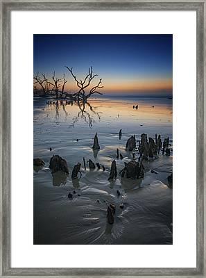 Sunrise On Edisto Island Framed Print