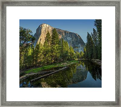 Sunrise On El Capitan Framed Print by Peter Tellone