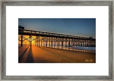 Framed Print featuring the photograph Sunrise On Folly Island by Rikk Flohr