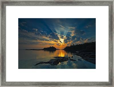 Sunrise On Georgian Bay, Fathom Five Framed Print