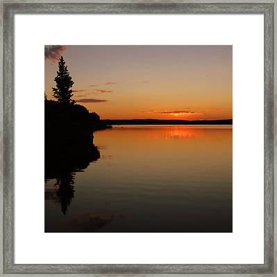 Sunrise On Heart Lake Framed Print